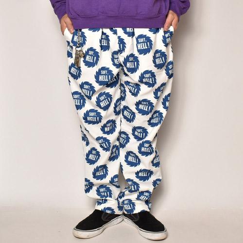 Soft, Hell! Easy Pants(ソフトヘルイージーパンツ)ホワイト×ブルー [a-4058]