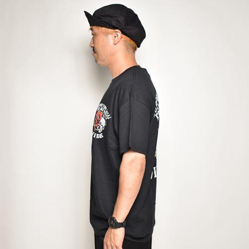 Hells Angels R Side/Heven & Hell S/S T-Shirt(ヘルズエンジェルス Tシャツ)ブラック [a-5121]