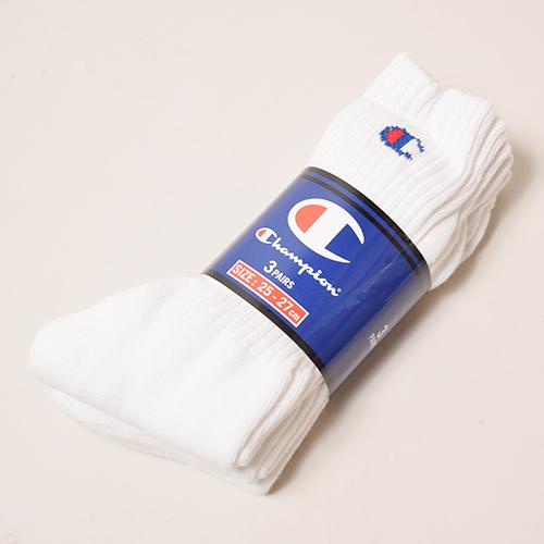 Champion/Full Length 3P Socks(チャンピオン ソックス)ホワイト [a-3175]