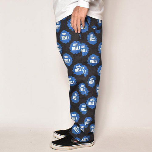 Soft, Hell! Easy Pants(ソフトヘルイージーパンツ)ブラック×ブルー [a-4059]