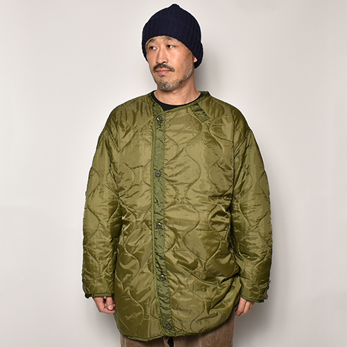 US Army/Customized M-65 Long Quilted Liner Jacket(USアーミー×アス キルティングライナージャケット)オリーブ [a-4095]