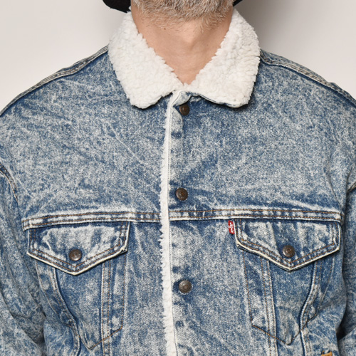 ・Levi's/Denim Boa Jacket(リーバイス デニムボアジャケット)ウォッシュインディゴ/サイズM [z-4856]