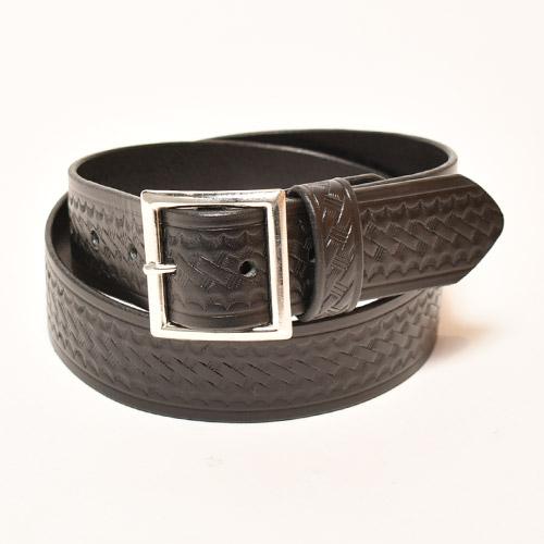 Aker/Basket Weave Leather Belt(エイカー レザーベルト)ブラック [a-4688]