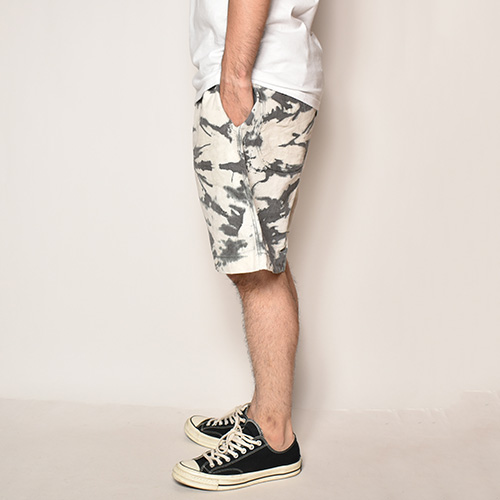 Tie Dyed Easy Short Pants(タイダイイージーショートパンツ)ブラック×ホワイト [z-4303]