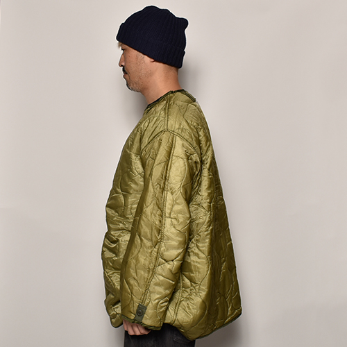 US Army/Customized M-65 Long Quilted Liner Jacket(USアーミー×アス キルティングライナージャケット)ライトオリーブ [a-4096]