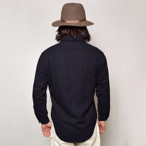 ・US Navy/Wool CPO Shirts(USネイビー CPOシャツ)ネイビー/サイズ14 1/2 [u-9099]