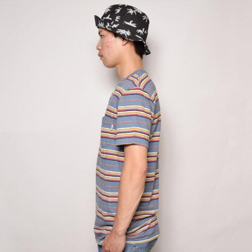 Vans/Breman Border T-Shirt(バンズ マルチボーダーTシャツ)ブルーマルチ [a-1092]
