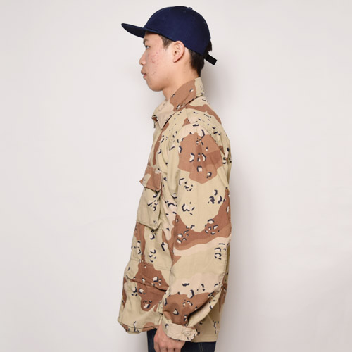 US Military/4Pocket BDU Shirt Jacket/Deadstock(USミリタリー BDUジャケット)チョコチップカモ [a-1127]