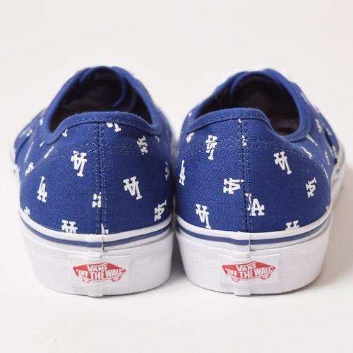 Vans×MLB/Limited Authentic/LA Dodgers(バンズ×MLB オーセンティック)ブルー×ホワイト [a-1405]