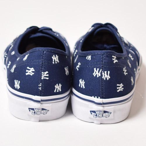 Vans×MLB/Limited Authentic/NY Yankees(バンズ×MLB オーセンティック)ネイビー×ホワイト [a-1406]