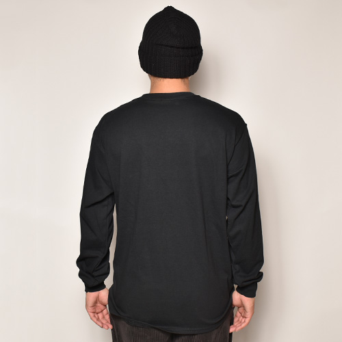 Newschool L/S T-Shirt(ニュースクール Tシャツ)ブラック [a-4061]