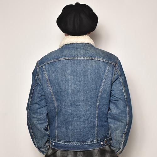 ・Levi's/Denim Boa Jacket(リーバイス デニムボアジャケット)インディゴ/サイズ42 [z-4858]