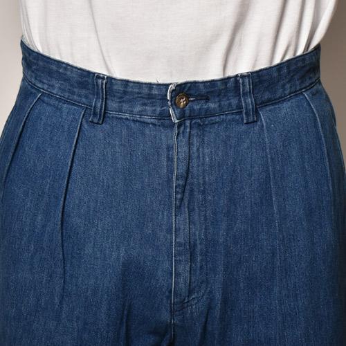 ・Polo Ralph Lauren/Denim 2Tuck Short Pants(ラルフローレン デニムショートパンツ)インディゴ/サイズW34 [z-4171]