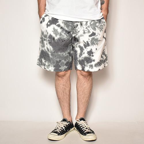 Tie Dyed Easy Short Pants(タイダイイージーショートパンツ)ブラック×ホワイト [z-4305]
