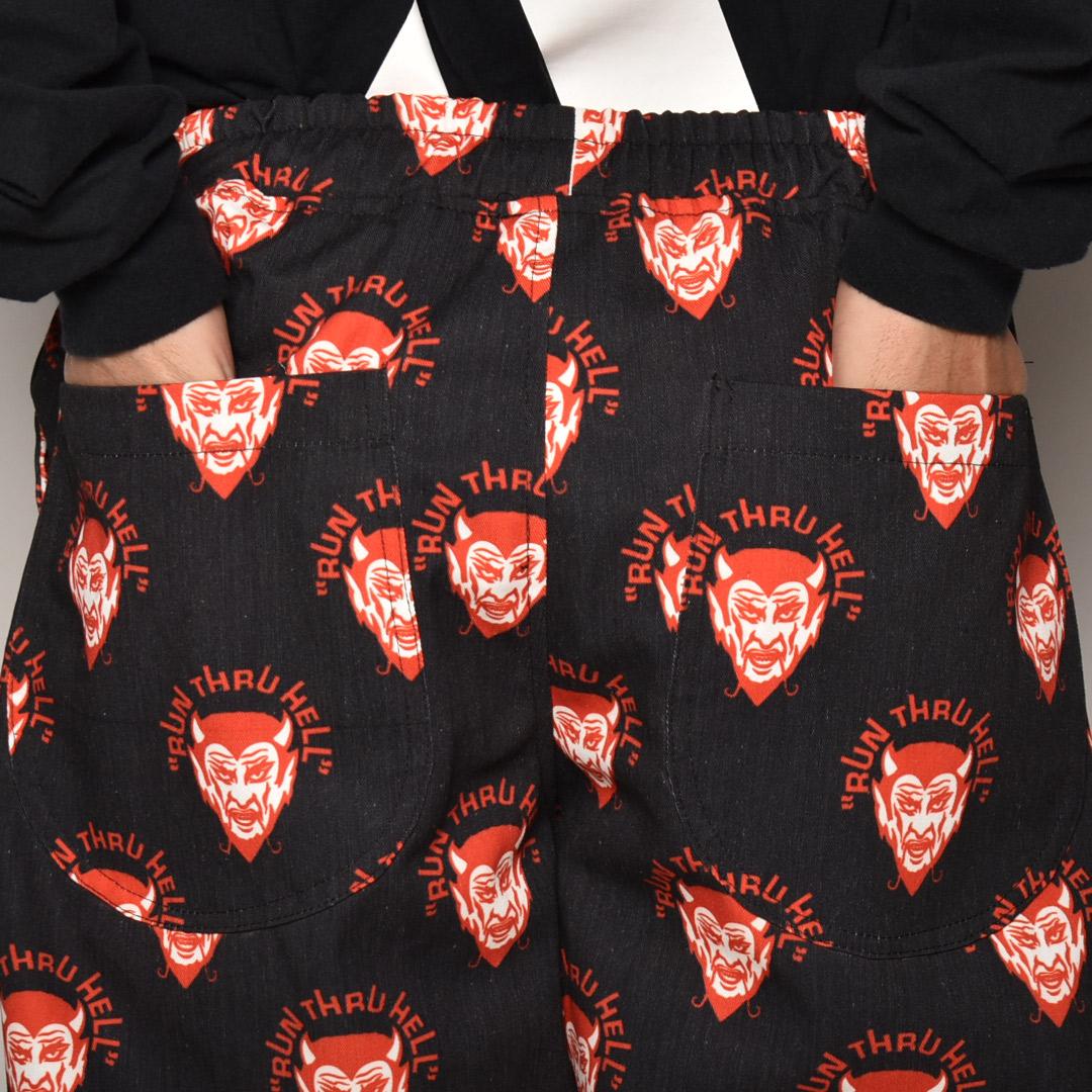 Run Thru Hell Devil Work Easy Pants(デビルイージーパンツ)ブラック×レッド [a-4098]