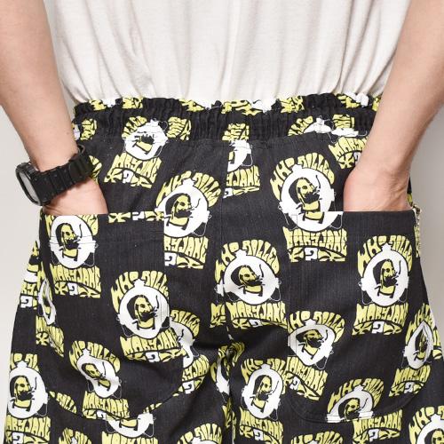 Mary Jane Zig-Zag Easy Short Pants(ジグザグイージーショーツ)ブラック×イエロー×ホワイト [a-4854]
