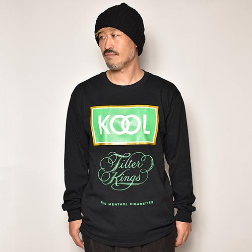 KOOL Box Logo L/S T-Shirt(クール Tシャツ)ブラック [a-4063]