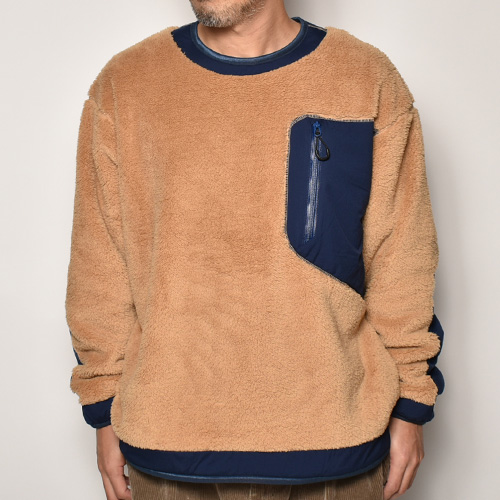 Comfy Outdoor Garment/Precold Fleece Tee(コンフィー フリーススウェット)コヨーテ×ネイビー [a-4099]