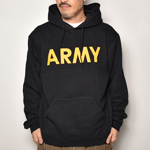 Soffe USA/US Army Official Pullover Hoodie(ソフィー USアーミースウェットパーカー)ブラック [a-4170]