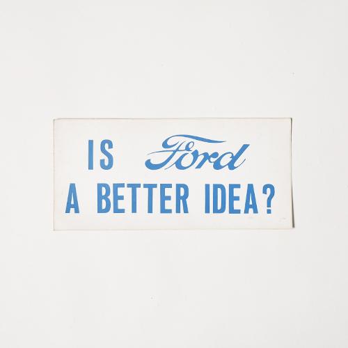 Ford/Vintage Sticker(フォード ステッカー)ホワイト×ブルー [a-4805]