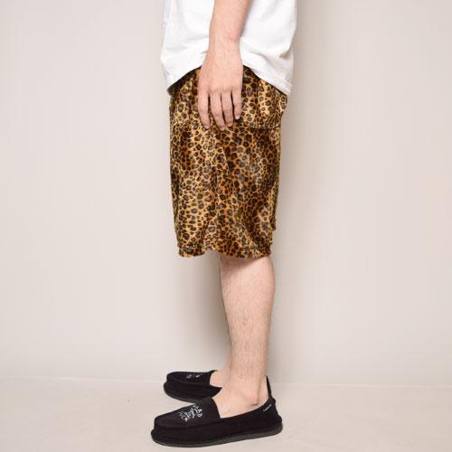 Fake Fur Leopard Easy Short Pants(レオパードイージーショートパンツ)レオパード [a-3083]