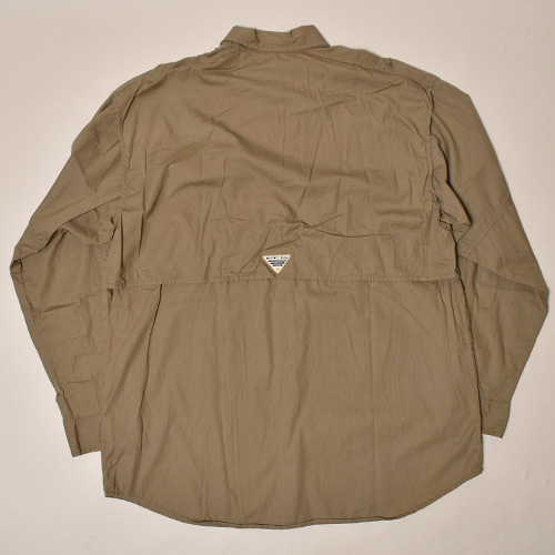 ・Columbia Sportswear/L/S PFG Fishing Shirt(コロンビア フィッシングシャツ)カーキ/サイズM [z-3494]