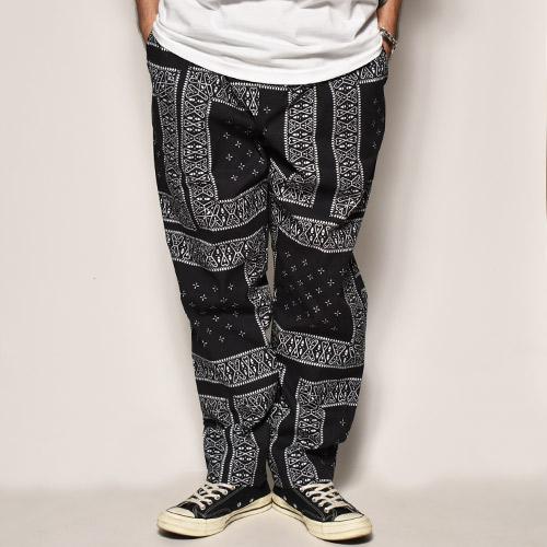 Cross Bandana Printed Easy Pants(クロスバンダナイージーパンツ)ブラック [a-3995]