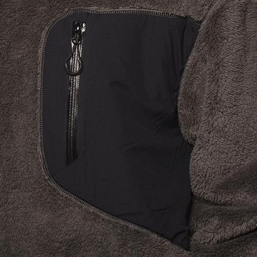 Comfy Outdoor Garment/Precold Fleece Tee(コンフィー フリーススウェット)チャコール×ブラック [a-4101]