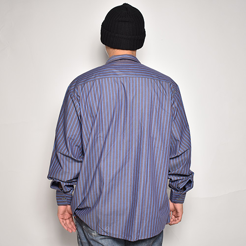 Red Kap×US/49% Mother Patched L/S Loose Work Shirt(レッドキャップ×アス ワークシャツ)グレー×ブルー [a-5373]