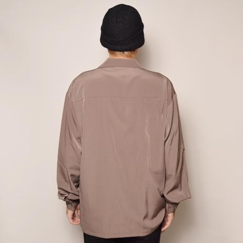 Cal Top/L/S Solid Loose Shirt(キャルトップ ソリッドルーズシャツ)ベージュ [a-3346]