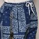 Cross Bandana Printed Easy Pants(クロスバンダナイージーパンツ)ネイビー [a-3996]
