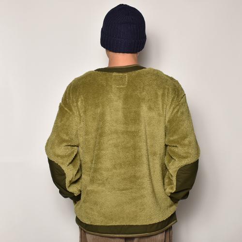 Comfy Outdoor Garment/Precold Fleece Tee(コンフィー フリーススウェット)オリーブ×オリーブ [a-4102]