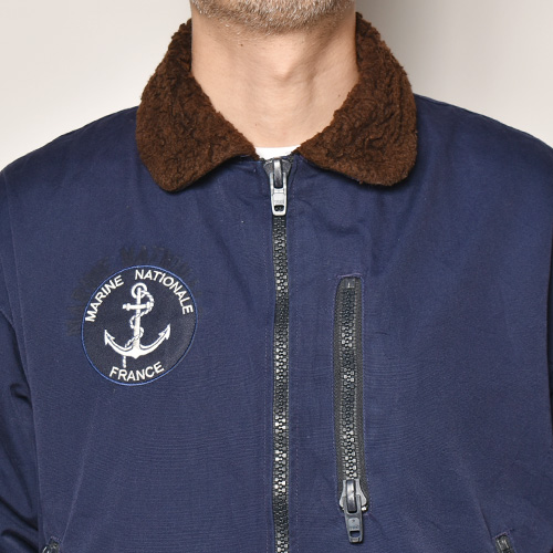 ・French Navy/Deck Jacket(フレンチネイビー デッキジャケット)ネイビー/身幅67cm [z-4911]