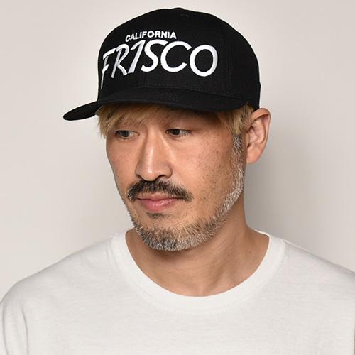 Hood Hat×US/Frisco Snap Back Cap(フッド×アス キャップ)ブラック [a-4198]