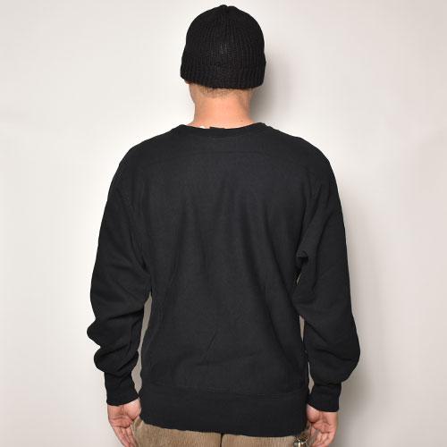 ・Champion/Reverse Weave Over Dyed Black Sweatshirt(チャンピオン オーバーダイリバースウィーブスウェット)ブラック/サイズL [z-4731]