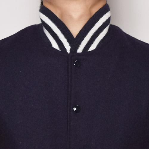 GB Sports by Golden Bear×US/Melton Varsity Jacket(ゴールデンベアー×アス バーシティジャケット)ネイビー×マスタード [n-9541]
