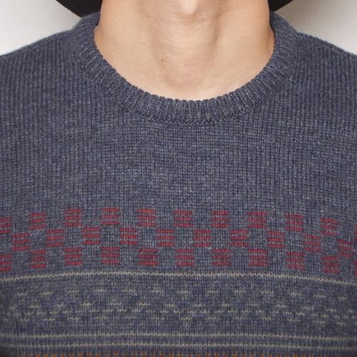 Vans/Holmby Crew Neck Knit(バンズ クルーネックニット)ネイビーヘザー [n-9668]