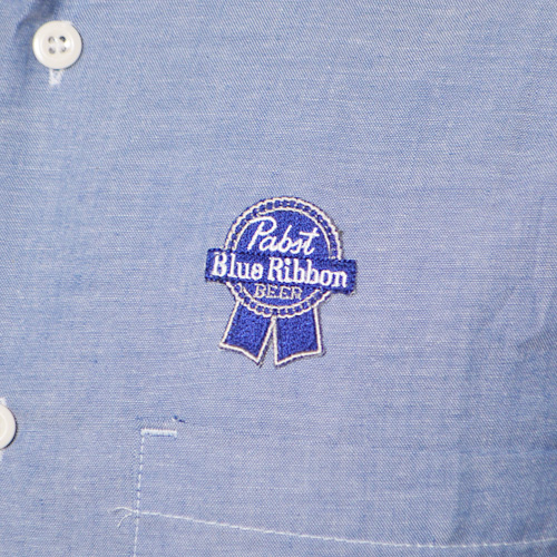 Pabst Blue Ribbon×US/Official Patched Chambray Shirt(パブスト×アス シャンブレーシャツ) [a-0235]