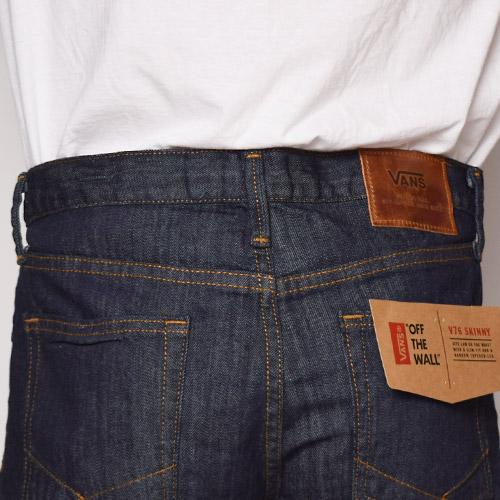 Vans/V76 Skinny Jeans(バンズ スキニーデニム)ウォッシュドインディゴ [a-0367]