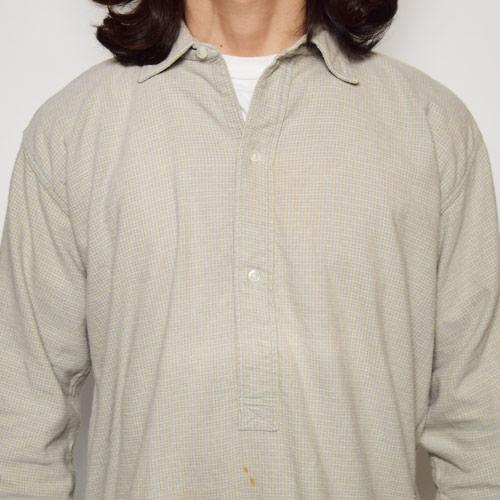 ・EU Long Length Shirt(ヨーロッパ ロングレングスシャツ)ベージュ×イエロー×ブルー/サイズ3 [u-9174]