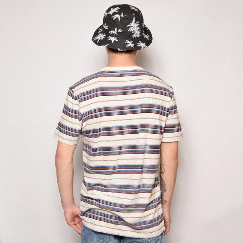 Vans/Breman Border T-Shirt(バンズ マルチボーダーTシャツ)ナチュラルマルチ [a-1091]