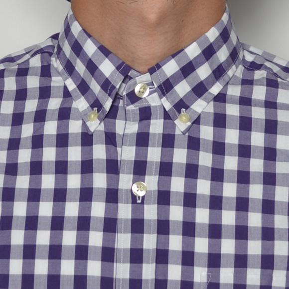 J.Crew/Washed B.D. Shirt(ジェイクルー ボタンダウンシャツ)ホワイト×パープル [n-6918]