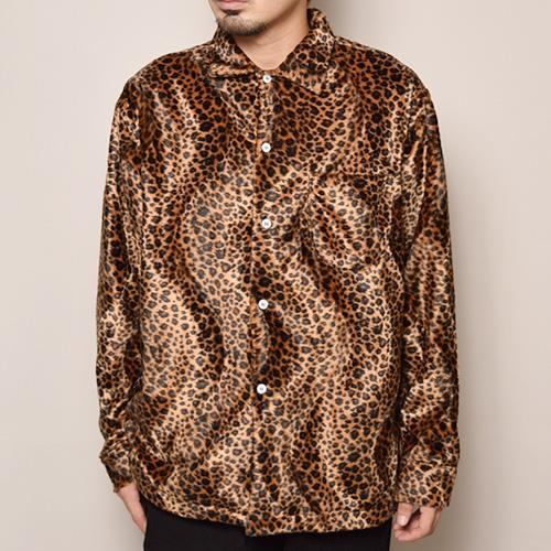 Fake Fur Leopard Shirt(フェイクファーレオパードシャツ)ダークレオパード [a-3350]