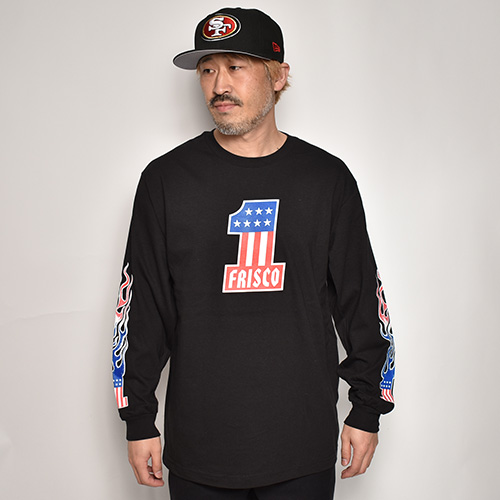 415 Clothing/Frisco No.1 L/S T-shirt(415クロージング Tシャツ)ブラック [a-3419]