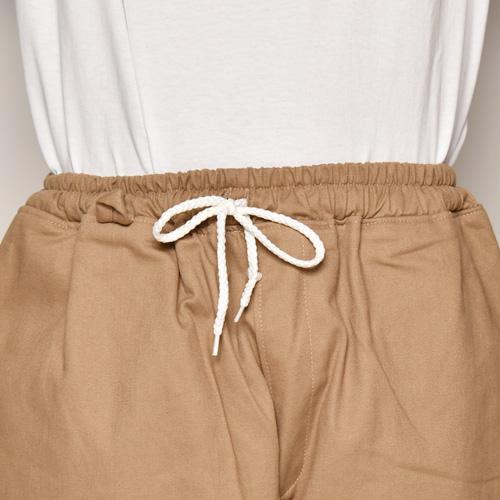 Chino Cloth Wide Easy Pants(チノクロス ワイドイージーパンツ)ベージュ [a-4000]