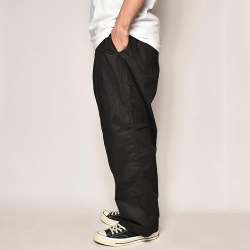 Chino Cloth Wide Easy Pants(チノクロス ワイドイージーパンツ)ブラック [a-4001]