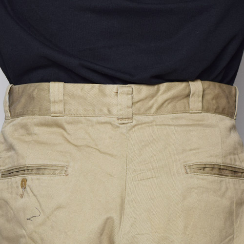 ・US Army/Vintage Wide Chino Trousers(USアーミー チノパンツ)ベージュ/サイズW31 [u-9659]
