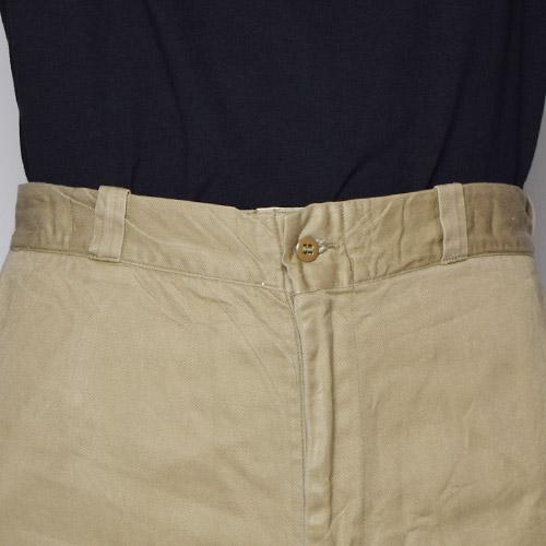 ・US Army/Vintage Wide Chino Trousers(USアーミー チノパンツ)ベージュ/サイズW31 [u-9660]