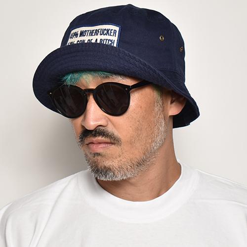 49% Mother Fucker Bucket Hat(49%マザファッカー ハット)ネイビー [a-5137]