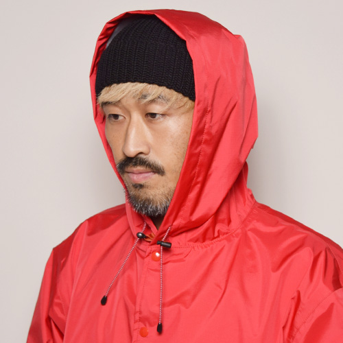 Comfy Outdoor Garment/Go Slowly Jacket(コンフィー フーデットコーチジャケット)レッド [a-2626]